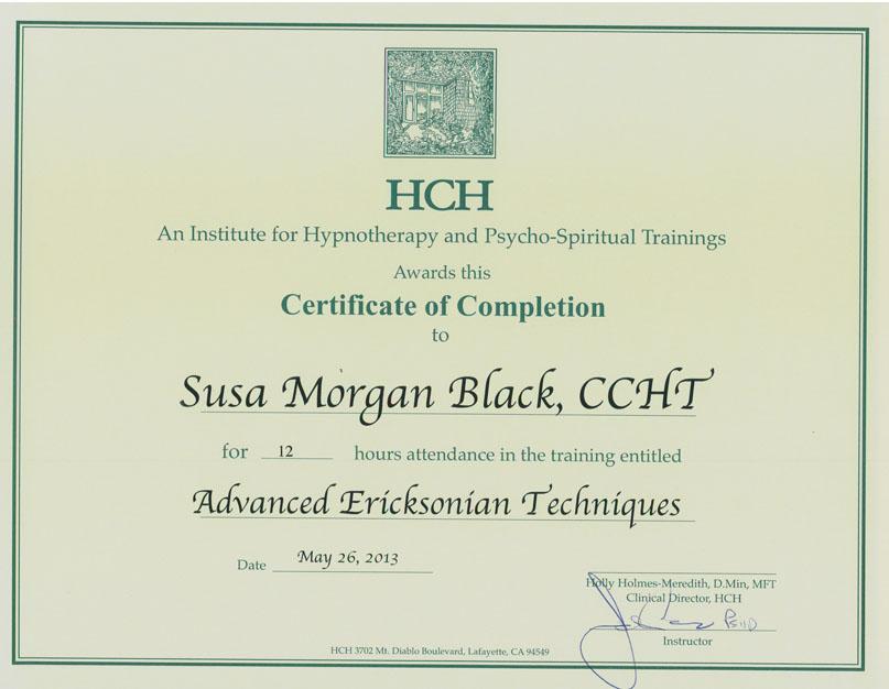 Susa Morgan Black Ccht