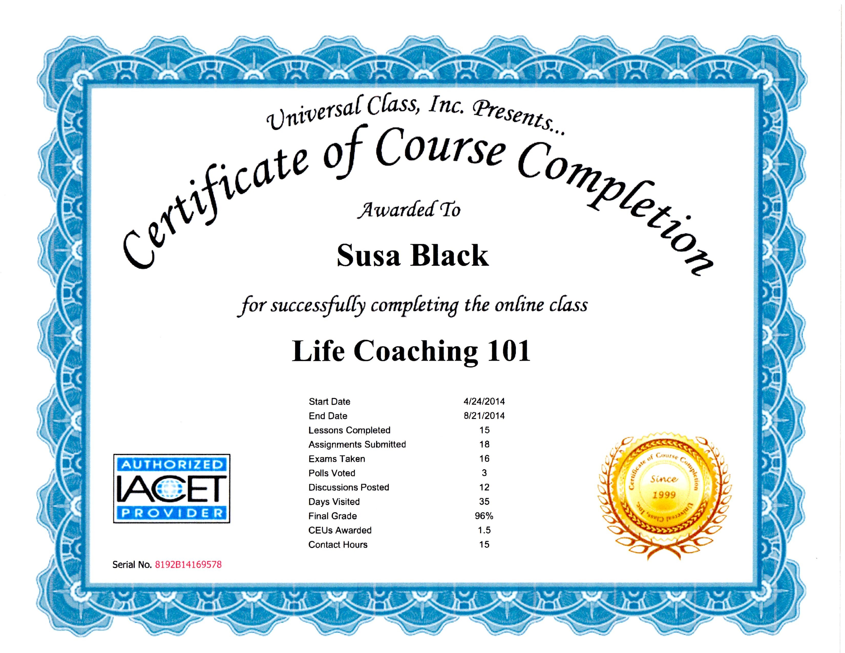Susa morgan black ccht certifications and scripts xflitez Gallery